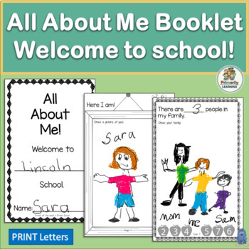 All About Me Booklet and Picture Frames for Back to School