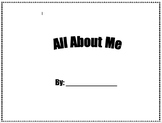 All About Me Booklet for Open house
