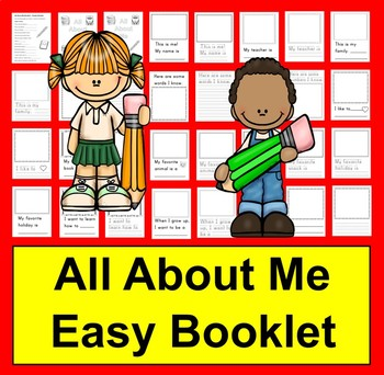 All About Me Booklet CANADIAN SPELLING  for the First Week of School - K/1