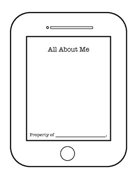 All About Me Booklet Iphone Or Ipad Template By Little Library