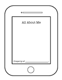 All About Me Booklet   iPhone or iPad Template