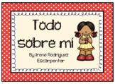 All About Me Booklet in Spanish/Todo sobre mí en Español.