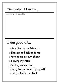 All About Me.  Booklet to go home for parents.