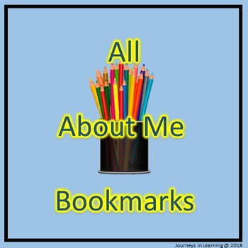 All About Me Bookmarks