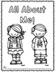 All About Me Books!  Getting to know you activity for primary grades!
