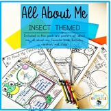 All About Me Bug Themed Posters