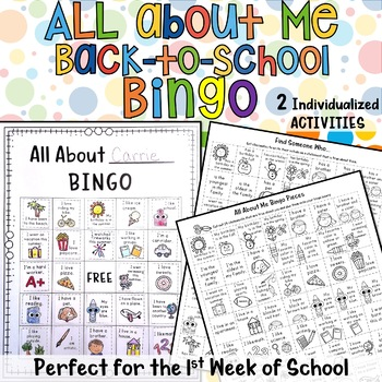 All About Me Build -A- BINGO Individualized Back to School Activity
