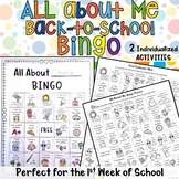 All About Me Build -A- BINGO Individualized Back to School