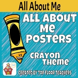 Back To School All About Me Bulletin Board - Crayon Theme