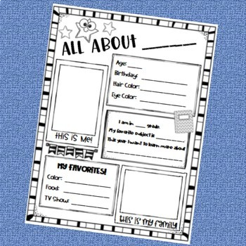 All About Me Bundle - 3 First Week Activities!