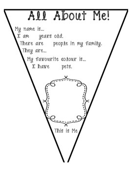 All About Me Bunting Activity