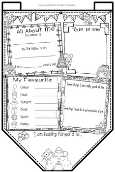 All About Me Bunting - Detective Theme ~ Great Back to School Activity