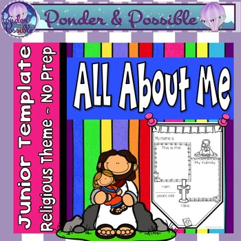 All About Me Junior Bunting - Bible Religious Theme - Back to School Activity