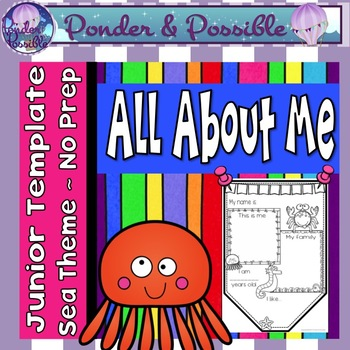 All About Me Junior Bunting - Sea / Ocean Theme - Back to School Activity