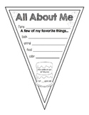 Back to School: All About Me Pennant Banner