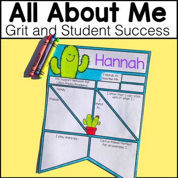 All About Me Cactus Pennant - Grit and Student Success