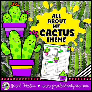 All About Me Cactus Theme (All About Me Succulent Theme)