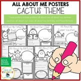 All About Me Cactus Themed Posters