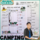 All About Me Camping Poster