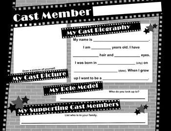 All About Me - Cast Member (Movie Theme Classroom)