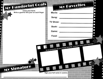 All About Me - Cast Member (Movie Theme Classroom) PAGE 2