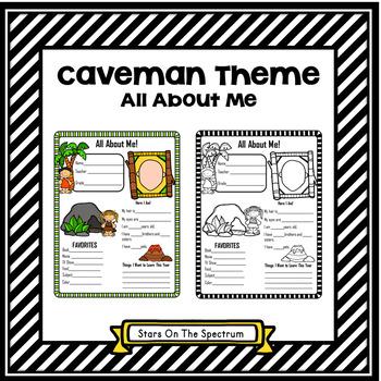 All About Me Caveman Theme