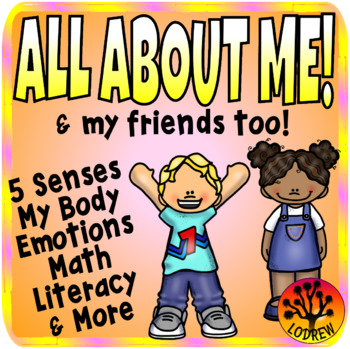 All About Me Centers Activities Literacy Math Five Senses Emotions My Body