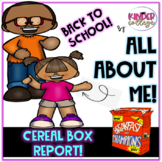All About Me Cereal Box Report