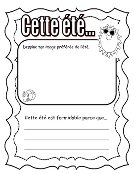 All About Me (C'est Moi!) in FRENCH. Great first days of school activity!