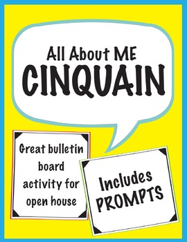 All About Me: Cinquain Poetry Prompt