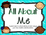 All About Me - Circle Map