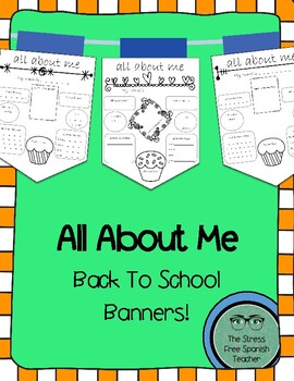 All About Me! Class Back to School Banners, English version