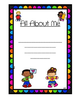 All About Me Class Book