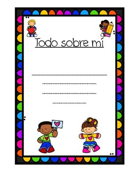 All About Me Class Book - Spanish Version