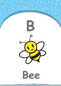 All About Me - Clothes : Letter B : Bee - Nursery (2 years old)