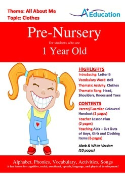 All About Me - Clothes : Letter B : Bell - Pre-Nursery (1