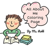 All About Me Coloring