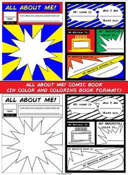 All About Me Comic Book! (Color & B&W)