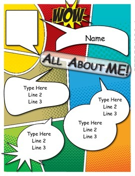 All About Me - Comic (editable)