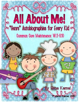 All About Me: Common Core-Ready Autobiography Worksheets