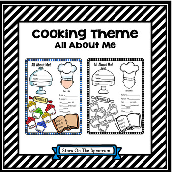 All About Me Cooking Theme