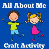 All About Me | Kindergarten 1st 2nd 3rd Grade | Worksheet