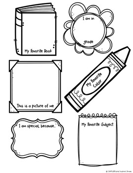 All About Me Craftivity Freebie for Back to School