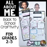 All About Me Craftivity: Print and Go Activity for the First Days of School