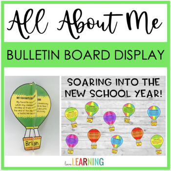 All About Me Craftivity and Bulletin Board Display