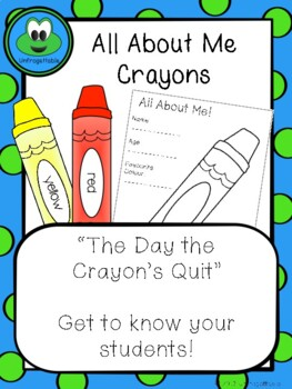 All About Me Crayons