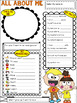 All About Me Crazy Kids Theme Get to Know Me Activity (Back to School)
