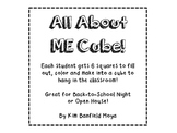 All About Me Cube!