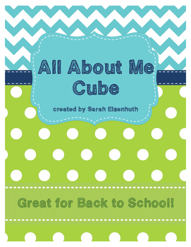 All About Me Cube for Back to School