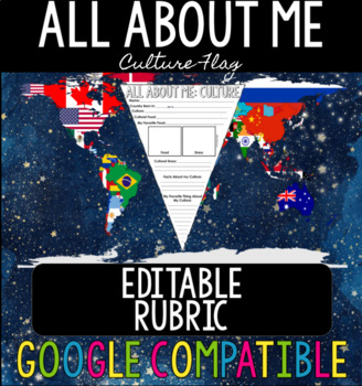 All About Me: Culture Flag EDITABLE